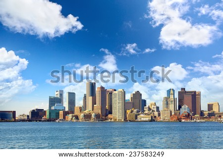 Boston downtown skyline, Massachusetts, USA - stock photo