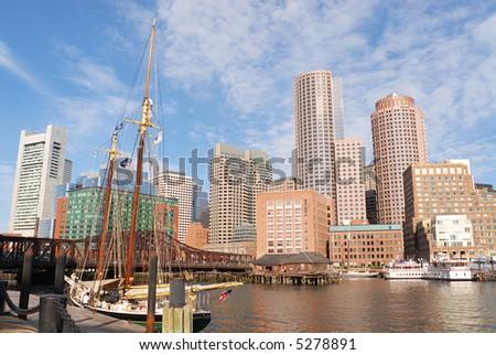 Boston Harbor Morning II - stock photo