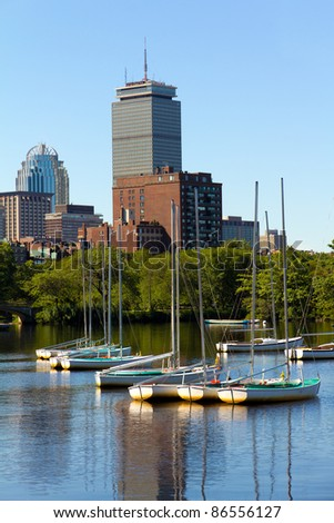 Boston in Massachusetts, USA. - stock photo