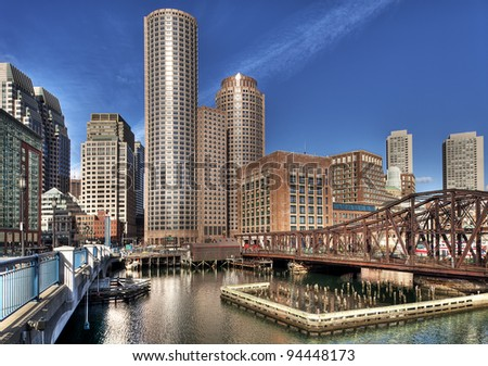 Boston in Massachusetts, USA - stock photo