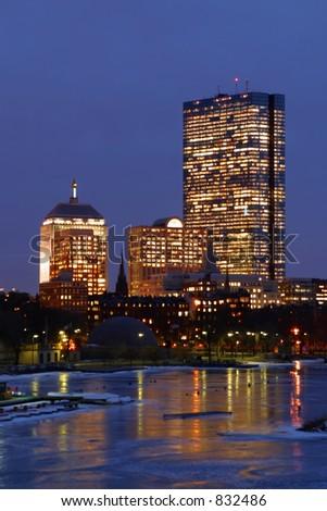 Boston John Hancock Building - stock photo