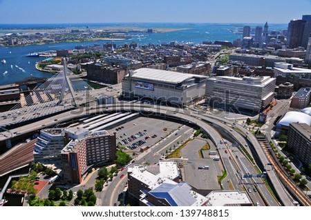 BOSTON   JULY 30: Aerial View Of The TD Garden On July 30, 2011