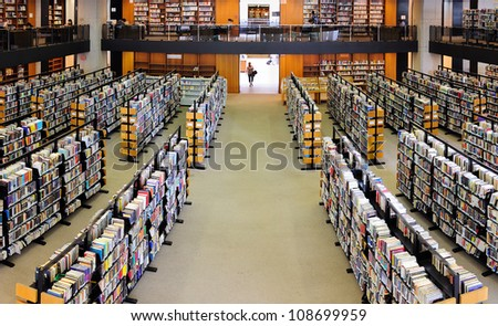 BOSTON, MA - JUN 20: Boston Library interior on June 20, 2011 in Boston, Massachusetts. The Boston Public Library is the first publicly supported municipal library in US with 8.9 million books.