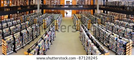 BOSTON, MA - JUN 20: Boston Library interior on June 20, 2011 in Boston, Massachusetts. The Boston Public Library is the first publicly supported municipal library in US with 8.9 million book.