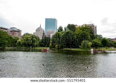 BOSTON, MA: September 2, 2016: Boston Common. Boston Common is the oldest city park in the United States.