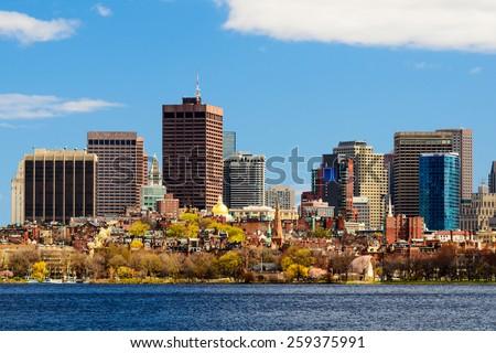 Boston, Massachusetts cityscape. - stock photo