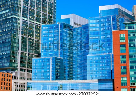 Boston Massachusetts downtown buidings cityscape in USA - stock photo