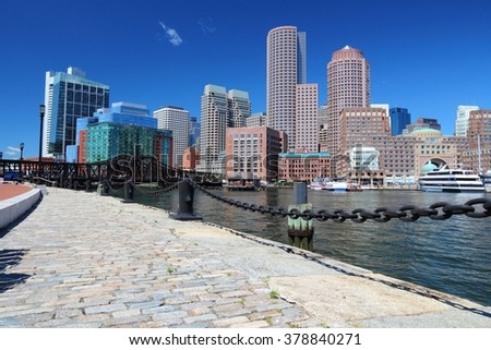Boston, Massachusetts in the United States. City skyline. - stock photo
