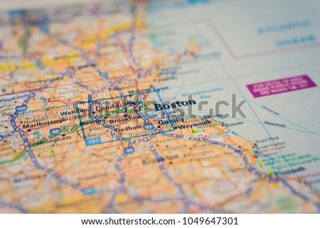 Boston On Usa Map.Boston On Usa Map Stock Photo Edit Now 1049647301 Shutterstock