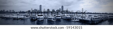 Boston Panoramic and skyline. - stock photo