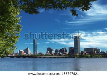 Boston Skyline 1 - stock photo