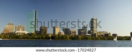 Boston skyline (daylight) - stock photo