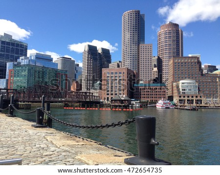Boston skyline in the USA