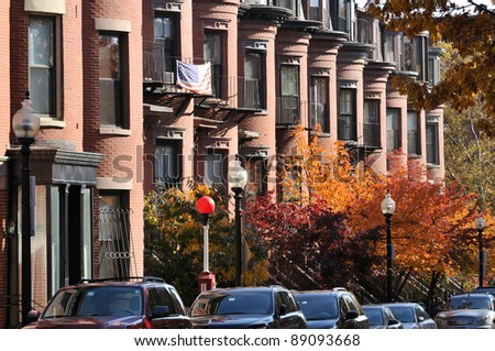 Boston South End Apartment Building - stock photo
