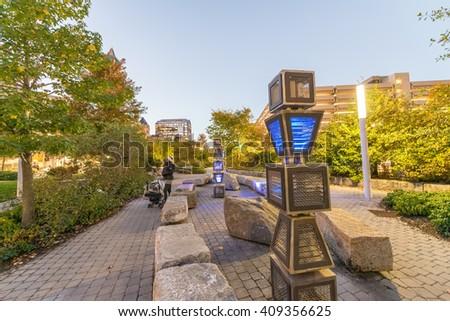 Boston streets, Massachusetts. - stock photo