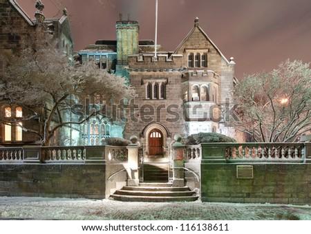 Boston University's Tudor Revival mansion The Castle - stock photo