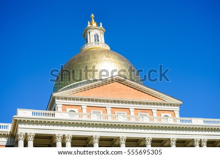 Boston, USA - 11 October, 2016: The Massachusetts State House is the state capitol and seat of government for the Commonwealth of Massachusetts
