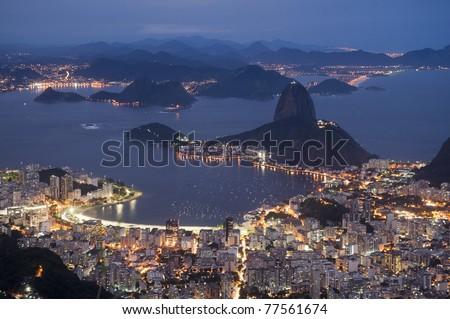 Botafogo bay - Rio de Janeiro, Brazil - stock photo