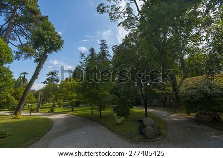 Botanical garden Italy - stock photo