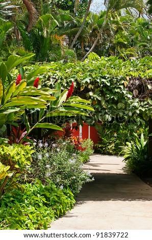 Botanical Garden Maui Tropical Plantation Wailuku Hawaii - stock photo