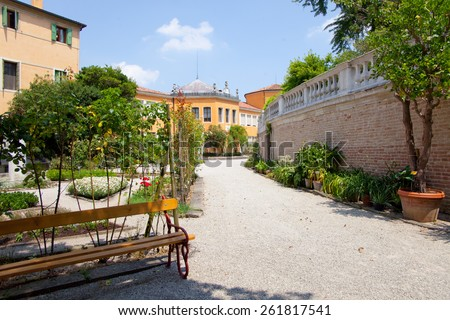 Botanical Garden of Padua it is the world's oldest academic botanical garden that is still in its original location.  - stock photo