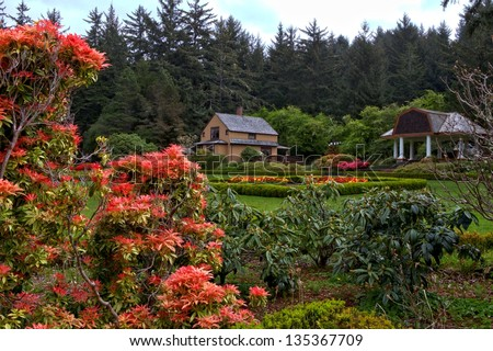 Botanical Gardens at Shore Acres State Park near Coos Bay Oregon