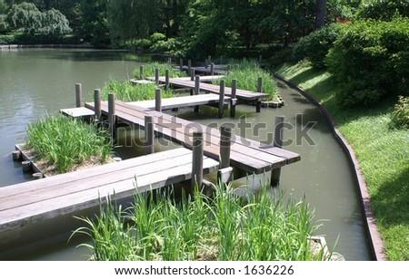 Botanical Gardens Bridge - stock photo