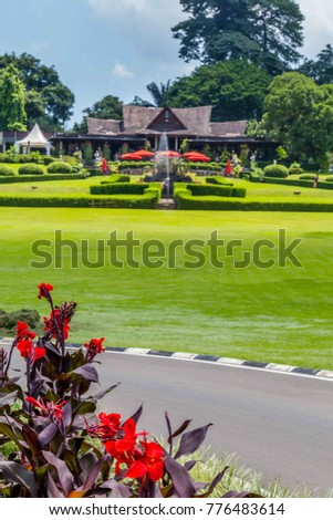 Botanical Gardens Kebun Raya Bogor West Stock Photo & Image (Royalty ...