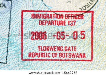 Botswana Passport Stamp