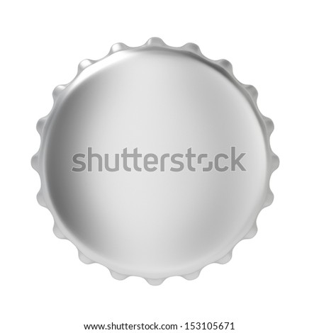 Bottle cap. 3d illustration on white background