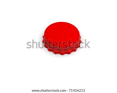 Bottle cap isolated on white 3d rendered - stock photo