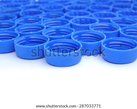 Bottle cap of water on white