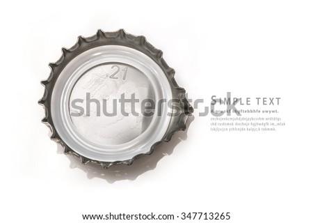 Bottle cap on white background - stock photo