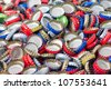 Bottle caps background - stock photo