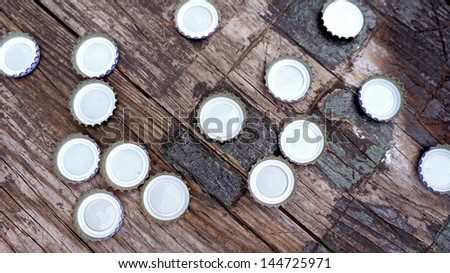 Bottle Caps Background - stock photo
