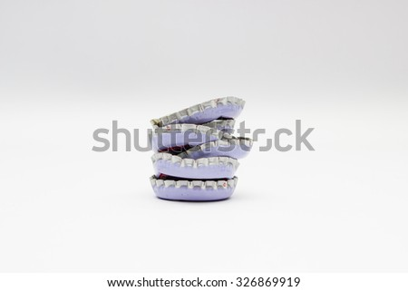 bottle caps on a white background
