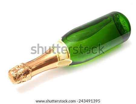 Bottle champagne          - stock photo