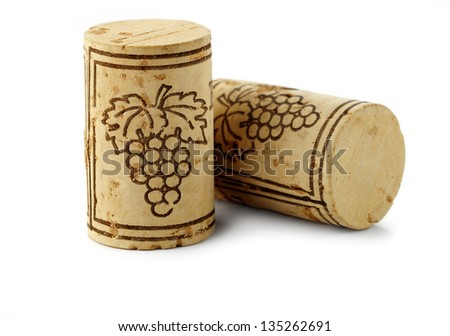 bottle corks isolated - stock photo