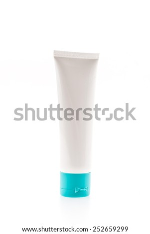Bottle cosmetic isolated on white