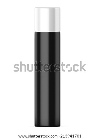 Bottle deodorant isolated on a white background