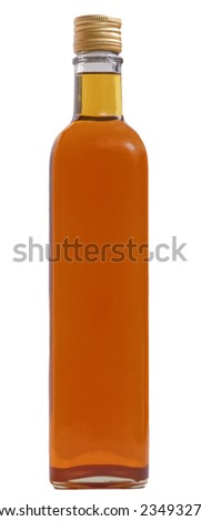 bottle fill of  liquid without label - stock photo