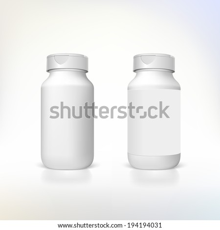 Bottle for dietary supplements and medicines.  - stock photo