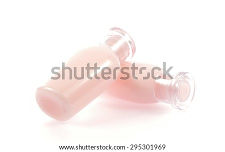 Bottle for shampoo,Liquid cleansing soap ,toner face ,shower gel and body lotion Isolated on white background - stock photo