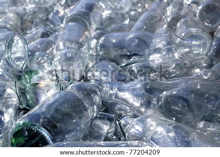 bottle glass recycle mound pattern background - stock photo