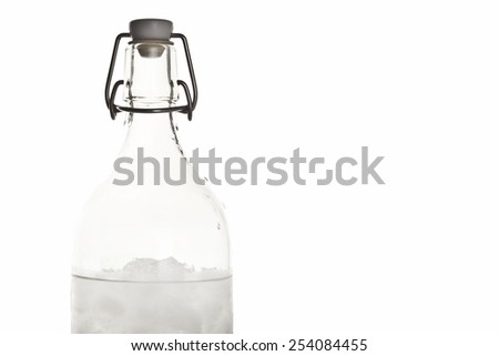 Bottle Ice and water with white background