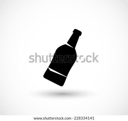 Bottle icon - stock photo