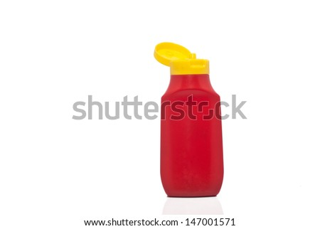 Bottle ketchup isolated on white background. concept of diet - stock photo