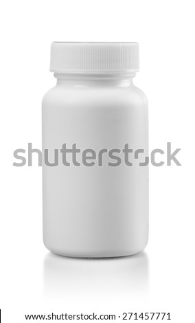 Bottle, Medicine, White. - stock photo