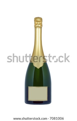 Bottle of Champagne with blank label