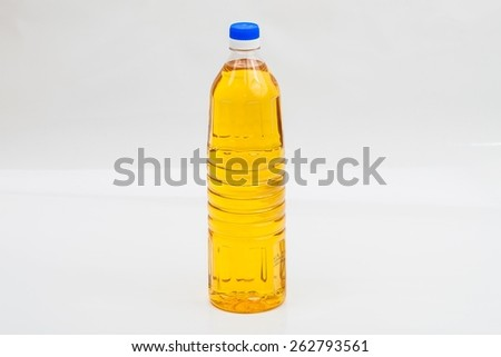 bottle of cooking oil made from palm with white background. suitable for restaurants, graphic design or culinary recipes - stock photo